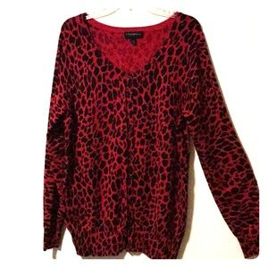 Lane Bryant leopard sweater